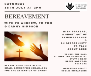 Event : Bereavement Service with Fr Andrew, Fr Tom & Danny Simpson @ The Hall, St John the Evangelist Church