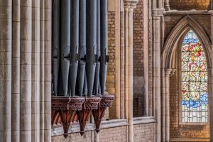 Organ pipes from gallery (photo by Andrew Prior)